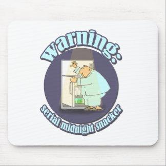 Warning: Serial Midnight Snacker Mouse Pad