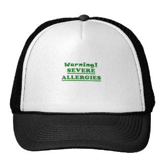 Warning Severe Allergies Trucker Hat
