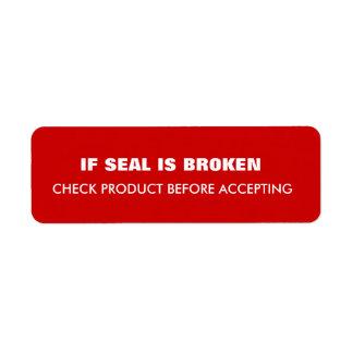 Warning  Shipping