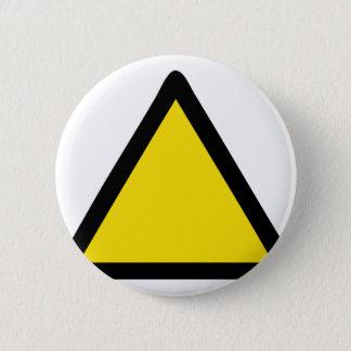 warning sign 2 inch round button