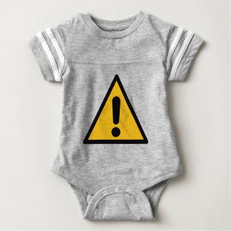 Warning Sign Baby Bodysuit