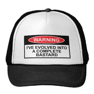 Warning sign bastard mesh hat