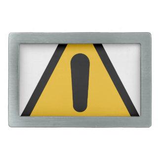 Warning Sign Belt Buckle