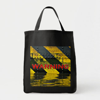Warning Sign Canvas Bag