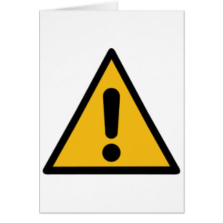Warning Sign Card