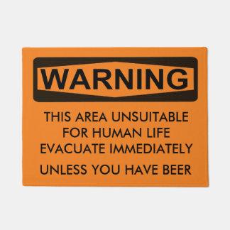 Warning Sign - Customizable Door Mat