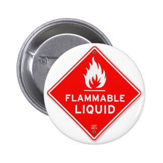 Warning Sign Flammable Liquids Fire Safety Sign 2 Inch Round Button