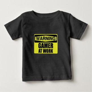 Warning Sign Gamer At Work Funny Baby T-Shirt