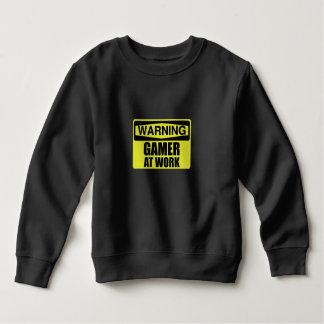 Warning Sign Gamer At Work Funny Sweatshirt