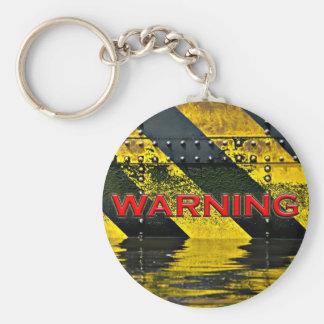 Warning Sign Keychain