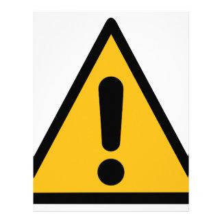 Warning Sign Letterhead
