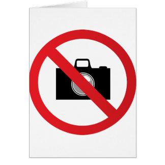Warning sign no camera card
