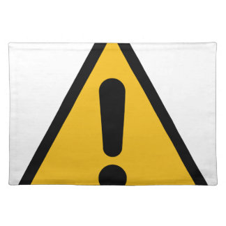 Warning Sign Placemat