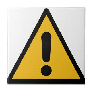 Warning Sign Tile
