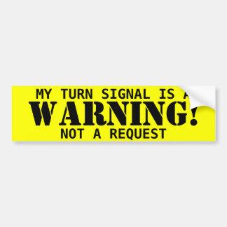 Warning! sticker