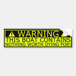 Warning sticker boat security