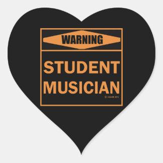 Warning! Student Musician! Heart Sticker