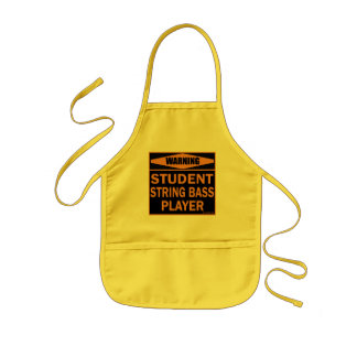 Warning! Student String Bass Player! Aprons