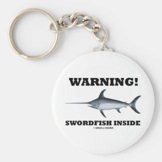 Warning! Swordfish Inside Keychain