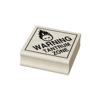 Warning - Tantrum Zone Rubber Stamp
