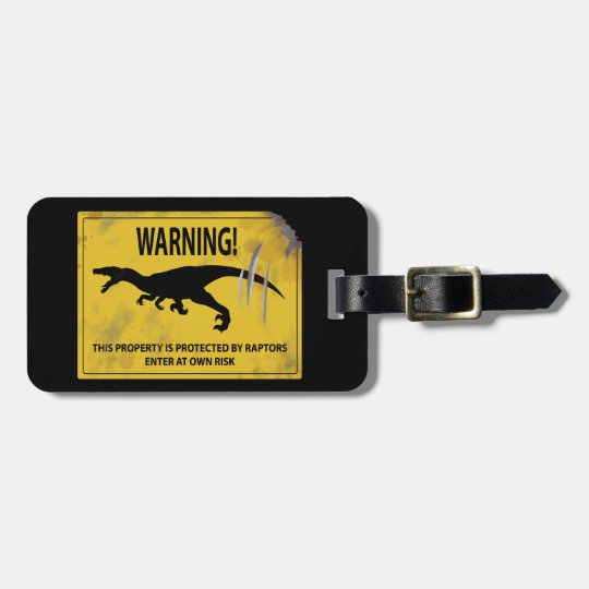 Warning! This Property is Protected by Raptors Luggage Tag