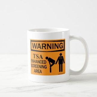 Warning! TSA Enhanced Screening Area Mug