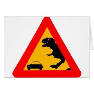 Warning Tyrannosaurus Rex Card