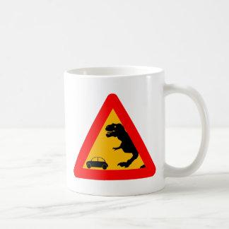 Warning Tyrannosaurus Rex Coffee Mug