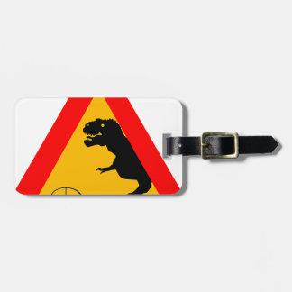 Warning Tyrannosaurus Rex Luggage Tag