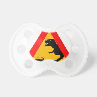 Warning Tyrannosaurus Rex Pacifier