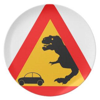 Warning Tyrannosaurus Rex Plate