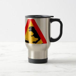Warning Tyrannosaurus Rex Travel Mug