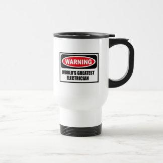 Warning WORLD'S GREATEST ELECTRICIAN Mug