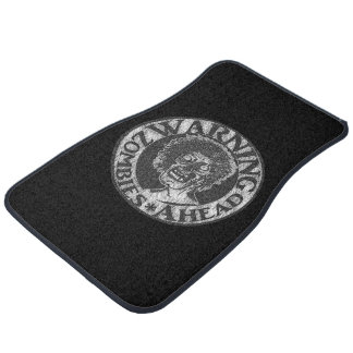 Warning Zombie Ahead- Black & Grey Car Mat