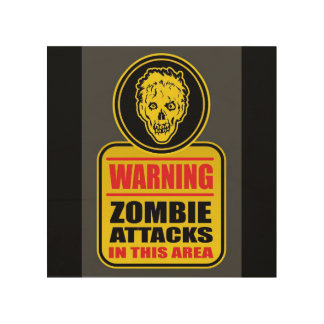 Warning Zombie Attacks Sign