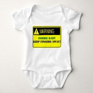 WARNING-ZOMBIE BABY KEEP FINGERS AWAY TEE SHIRTS