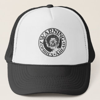 Warning Zombies Ahead -Faded Look Trucker Hat