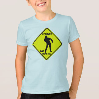 Warning: Zombies - Kid's T-Shirt