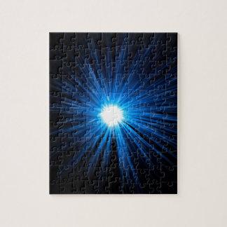 Warp speed blue. jigsaw puzzle