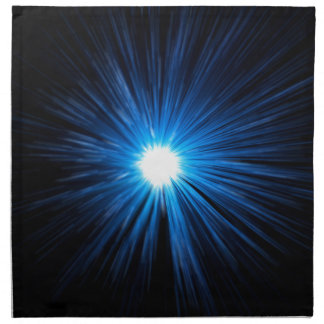 Warp speed blue. napkin
