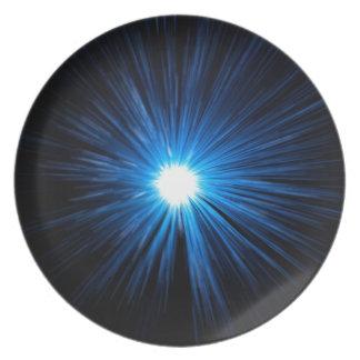 Warp speed blue. plate