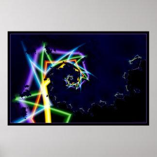 warp speed neon 2 poster