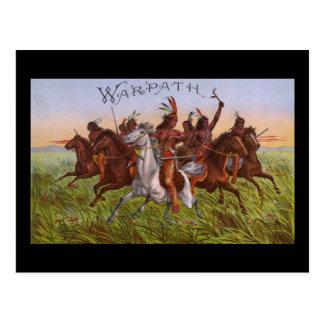 Warpath tobacco postcard