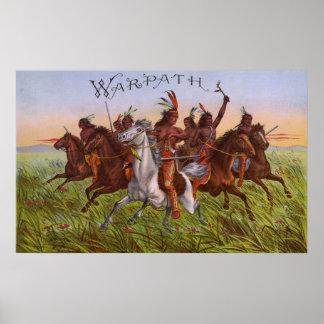 Warpath tobacco poster