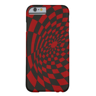 Warped Crimson Checkerboard Barely There iPhone 6 Case