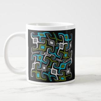 Warped Mid-Century Modern Meets Tribal Giant Coffee Mug