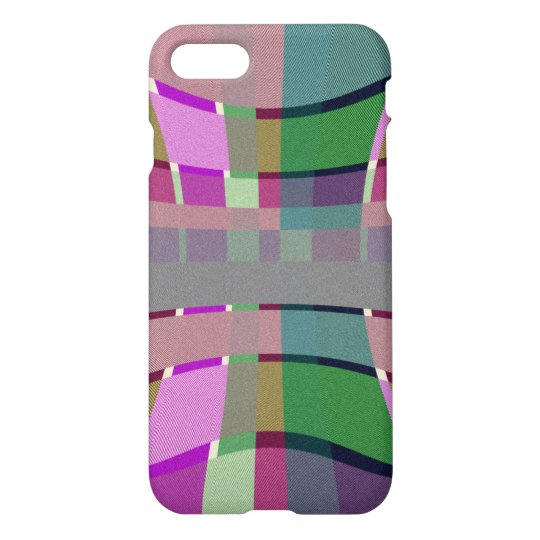 Warped Pattern Plaid Green and Purple Case