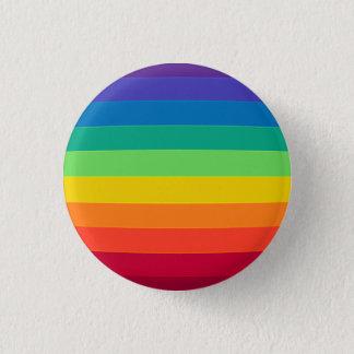warped rainbow 1 inch round button