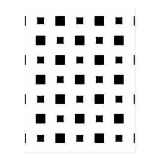 Warped squares design postcard