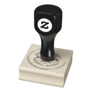 warranty 28 days rubber stamp